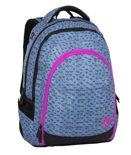 bd5b6057d43 Bagmaster Studentský batoh DIGITAL 8 A blue pink black   Kabelky ...