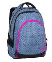 Bagmaster Studentský batoh DIGITAL 8 A blue/pink/black