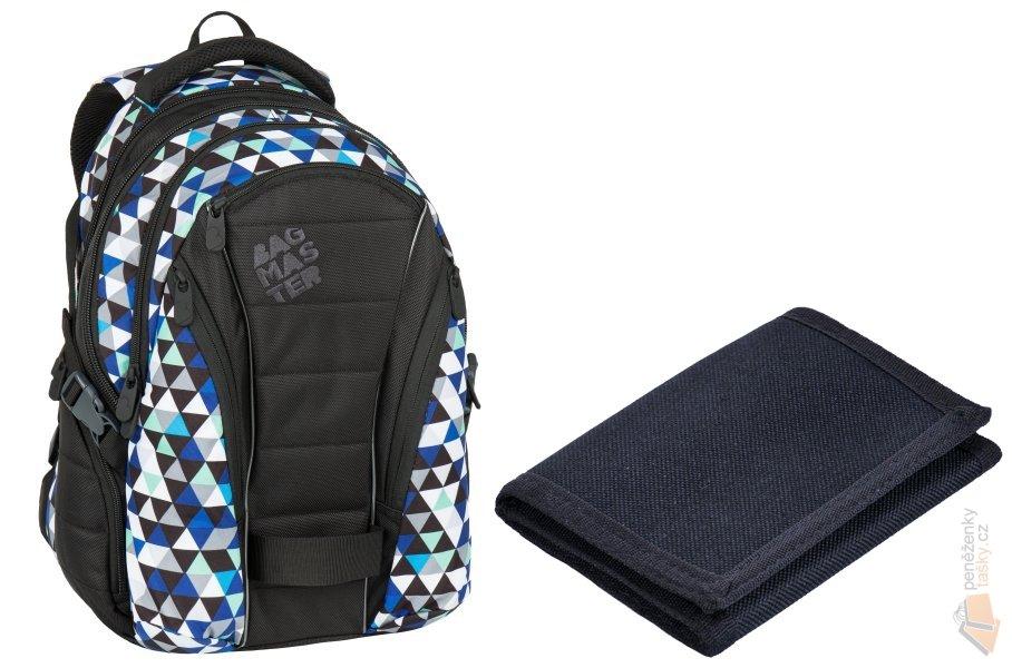 6a28a44c41 Bagmaster Studentský batoh Bag 7 I black blue grey   Kabelky ...