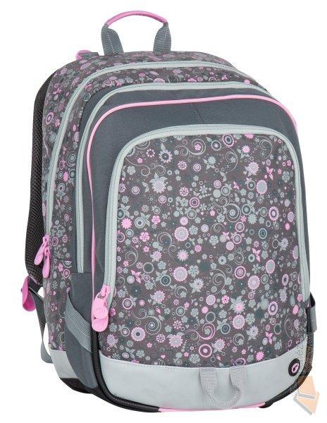 Bagmaster Školní batoh ALFA 7 B grey pink - Doprava zdarma   Kabelky ... a4f53f2c51