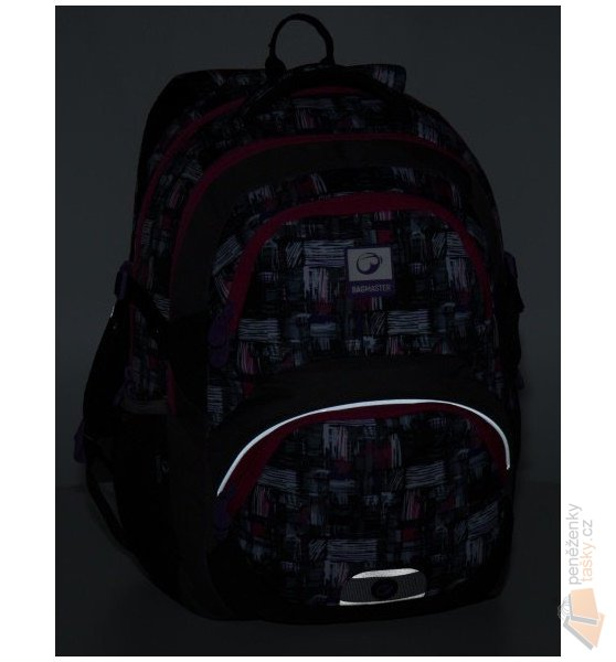 Bagmaster Školní batoh THEORY 8 A black gray pink Doprava zdarma ... b29783f164