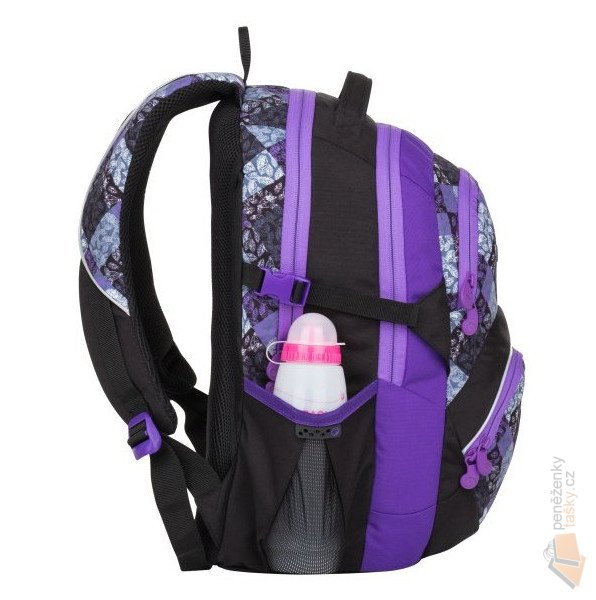 Bagmaster Školní batoh THEORY 8 B black violet grey Doprava zdarma ... 0dc325f5a8