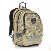 f11c587bb5b Topgal Školní batoh CHI 872 K brown - poslední kus