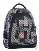 Bagmaster Studentský batoh DIGITAL 0215 C BLACK/BROWN/WHITE