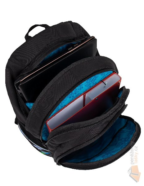 f064dbb487 Bagmaster Tříkomorový studentský batoh na notebook 15