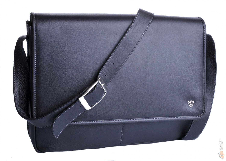 3ab43c8068ddd Arwel Kožená taška na notebook 212-6118 černá : Kabelky, peněženky ...