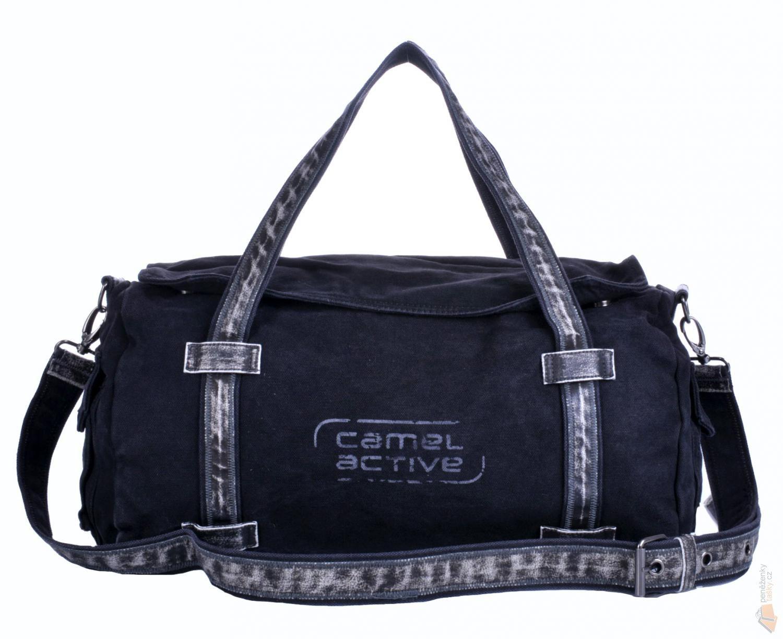 d04121cea Camel Active Plátěná taška crossbody B86-101-60 černá : Kabelky ...