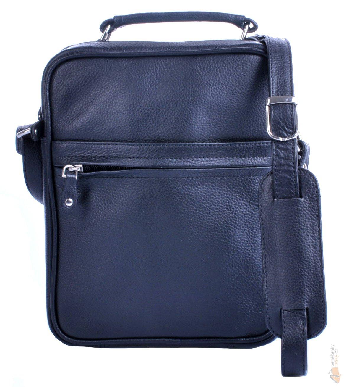 3c16a78fe LederArt Menší pracovní pánská taška přes rameno kožená 8002 černá P ...