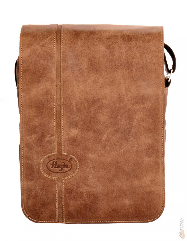 Hajn Pánská kožená taška přes rameno 140001.5 hnědá   Kabelky ... b948549e88