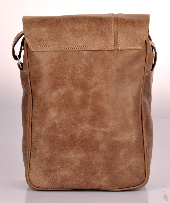 Hajn Pánská kožená taška přes rameno 140001.5 hnědá   Kabelky ... 205a17d2d4a