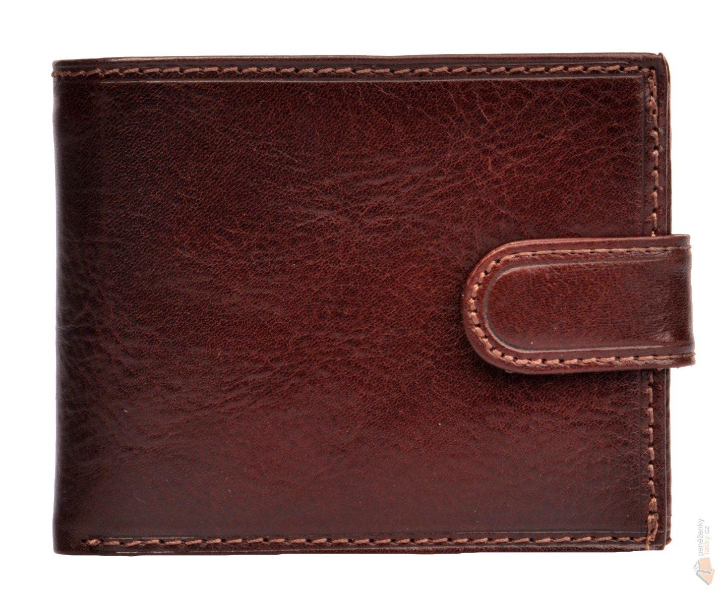 HELLIX Pánská kožená peněženka P-1202 hnědá   Kabelky 93a08ac336f