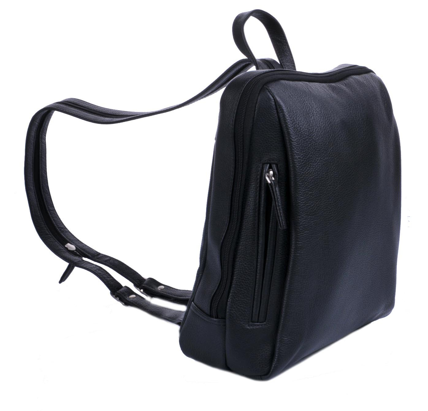 6819e51a0fb Estelle Kožený dámský batoh 0610 černý. sleva 13 %