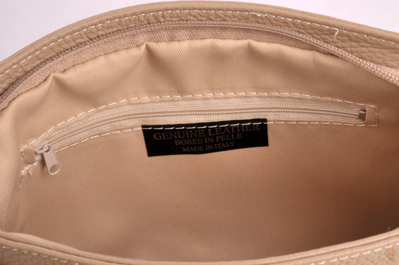 ab2bc7660d ITALY malá kožená kabelka 516 béžová   Kabelky