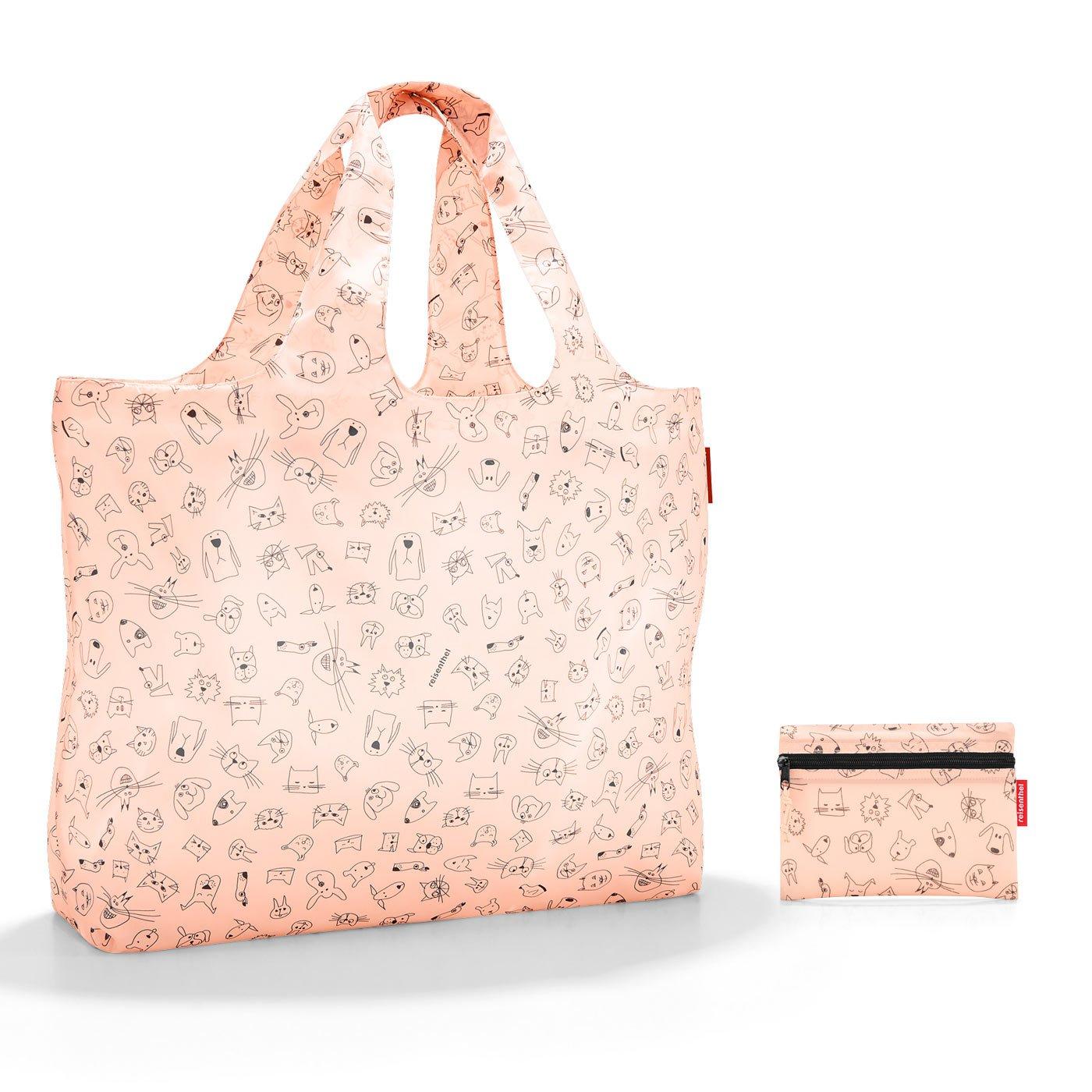 922aa85720 Reisenthel Plážová skládací taška Mini maxi beachbag cats and dogs rose  AA3064