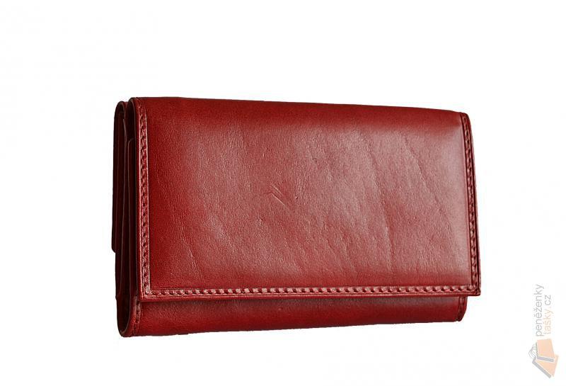 HELLIX dámská červená kožená peněženka P-505 red   Kabelky ... 648853bea8